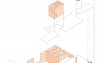 Jeanne Dekkers Architectuur_Banholt_exploded view02_white old orange new