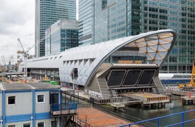 Crossrail Station Canary Wharf